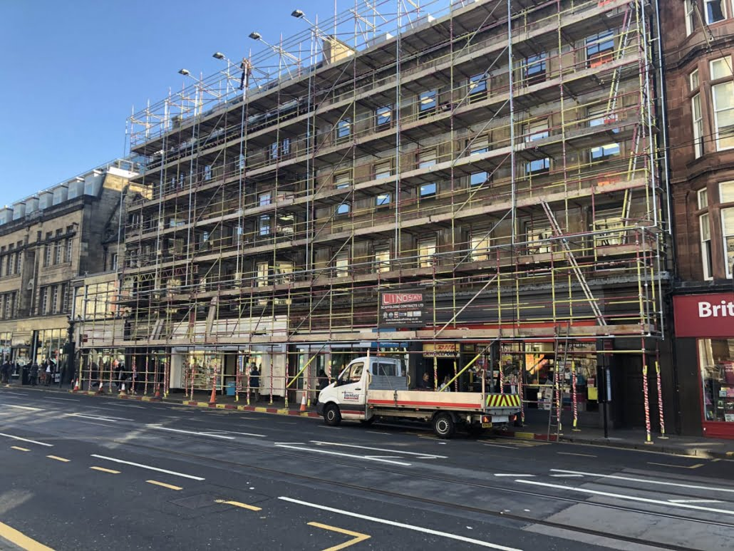 Scaffolding in Edinburgh